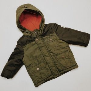 • OSH KOSH B'GOSH • army green puffer jacket